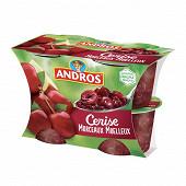 Andros dessert de cerises et pommes avec morceaux 4x100g