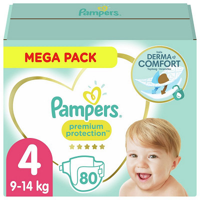 Pampers Pampers premium protection couches mega pack taille 4 80ct