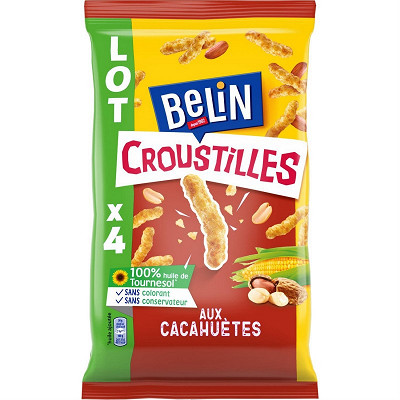 Belin Belin croustilles aux cacahuètes 4x138g