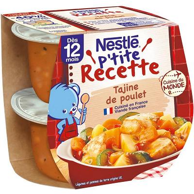 Nestlé Nestlé p'tite recette tajine de poulet dès 12 mois 2x200g