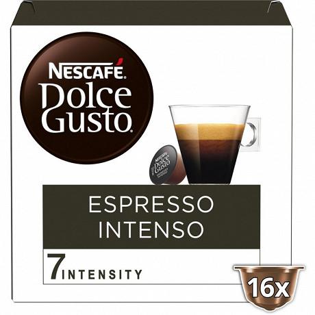 Nescafé Dolce Gusto Espresso intenso, capsule café intensité 7 - x16 dosettes