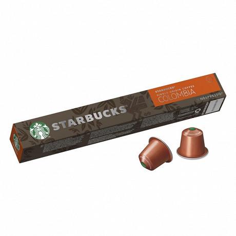 Starbucks by Nespress colombia capsules café torréfaction ambrée x10