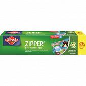 Albal sacs zipper mm 3l + 33% offert