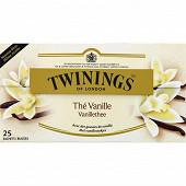 Twinings thé noir vanille x25 50g