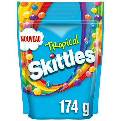 Skittles Skittles bonbons fruits & tropical 174g