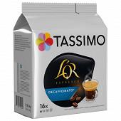 Tassimo l'or espresso décaféiné x16 118g