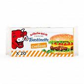 La vache qui rit toastinette cheddar hamburger 20 tranches 340g