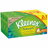 Kleenex mouchoirs boite balsam 2+1