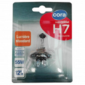 Cora blister 1 lampe H7  culot Px26d  55W 12V