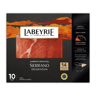 Labeyrie Labeyrie jambon serrano affinage 14 mois 10 tranches fines 165g