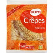Cora 10 crêpes au lait entier 300g