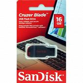 SanDisk Clé usb 2.0 cruzer blade 16 gb SDCZ50-016G-B35