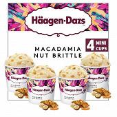 Haagen dazs mini pot obsession macadamia nut brittle 4X95ml - 324g
