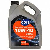 Cora huile moteur voiture semi-synthèse diesel 10W40 5 litres