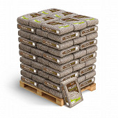 Granules de bois de chauffage 15kg 100% résineux en plus A1