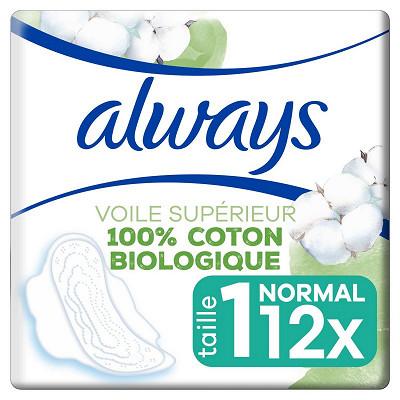 Always Always cotton comfort serviettes normal plus x12