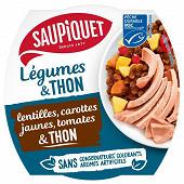 Salades lentilles et thon msc 160g saupiquet