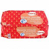Cora beurre moulé de Bretagne demi sel 500g