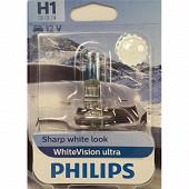 Philips lampe white vision ultra H1 12V 55W
