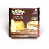 Casa azzurra tranches croques fondues au fromage de quattrocento  8 tranches 144g