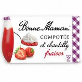 Bonne Maman compotée fraise chantilly 2x105g