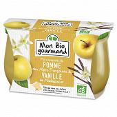 Mon bio gourmand compote pomme des Alpes vanille de Madagascar 2x125g