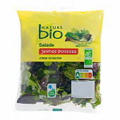 Nature Bio salade jeunes pousses bio sachet 100g