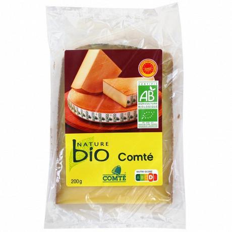 Nature bio comté bio AOP au lait cru - 6 mois d'affinage minimum 34%mg 200 g
