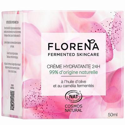Florena Florena crème hydratante 24h 50ml huile d'olive et camélia fermenté