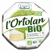 L'ortolan bio Fromagerie Milleret  250g