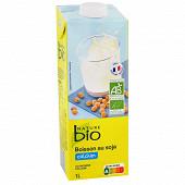 Nature bio boisson au soja source de calcium bio brique 1l