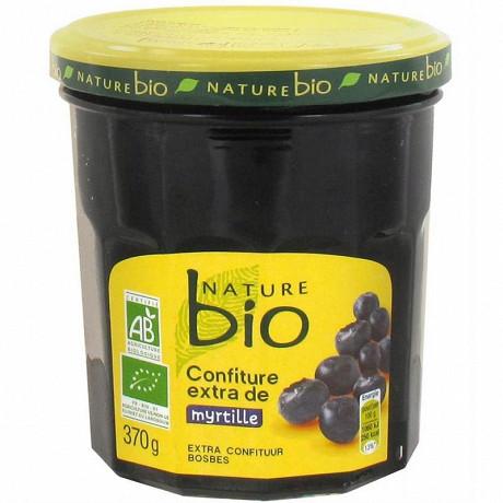Nature bio confiture extra de myrtilles 370g