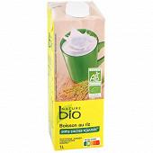 Nature bio boisson riz bio sans sucres ajoutés 1l