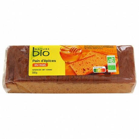 Nature bio pain d'épices bio au miel 25% 300g