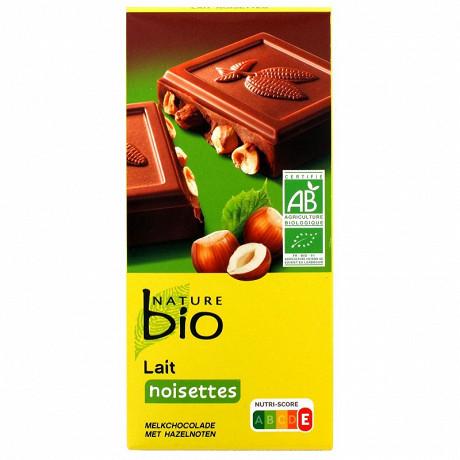 Nature bio tablette lait noisettes bio 0.2kg