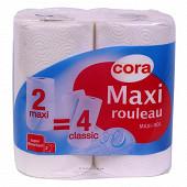 Cora essuie-tout compact blanc x2