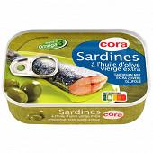 Cora sardines à l'huile d'olive vierge extra 1/5 135g