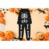 Combinaison squelette junior NOIR S