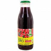 Nature Bio pur jus cranberry bio bocal 75cl