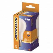 Attralux LED Standard 60W B22 Dépolie Blanc Chaud Boite de 1