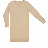 Robe pull courte manches longues femme CAMEL T50/52