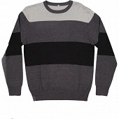 Pull manches longues homme ANTHRACITE/ NOIR XXL