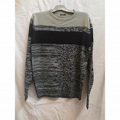 Pull manches longues homme GRAY/ NAVY XXL