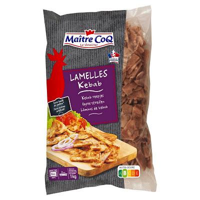 Maître Coq Maître Coq lamelles volaille kébab cuites sachet 1kg