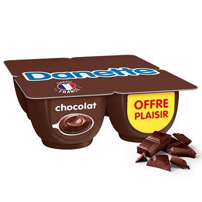 Danone Danette crème dessert chocolat 4x125g offre plaisir