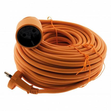 Prodelect prolongateur électrique 25m 2x1.0 orange