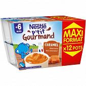 Nestlé p'tit gourmand caramel dès 6 mois 12 x 100g
