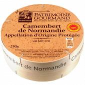 Patrimoine gourmand camembert aop au lait cru 250g