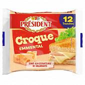 Président 12 tranches croque emmental 200 g