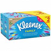 Kleenex boite mouchoirs original family 2x140 feuilles